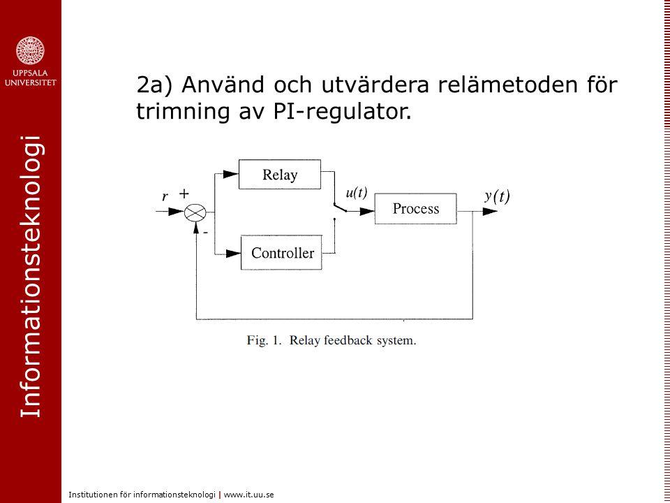 Informationsteknologi Institutionen för informationsteknologi | www.it.uu.se 2b) Repetitive control (aka Iterative Learning Control) 2c) Egna förslag