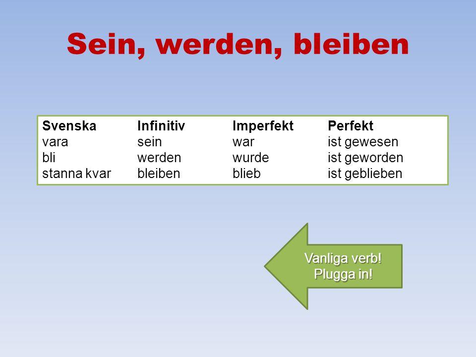 Modala hjälpverb i presens Så här böjer man können: ich kann du kannst er kann wir können ihr könnt sie können Sie können 1. Vokalväxling i singular.
