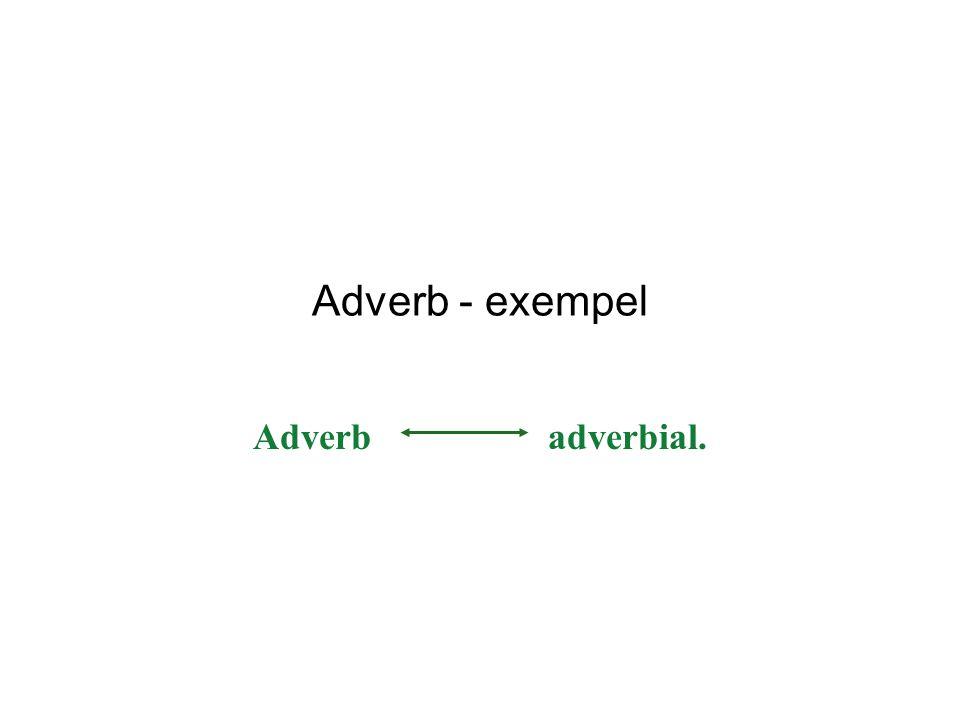 Adverb - exempel Adverb adverbial.