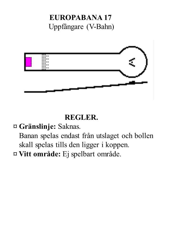 EUROPABANA 17 Uppfångare (V-Bahn) REGLER. ¤ Gränslinje: Saknas.