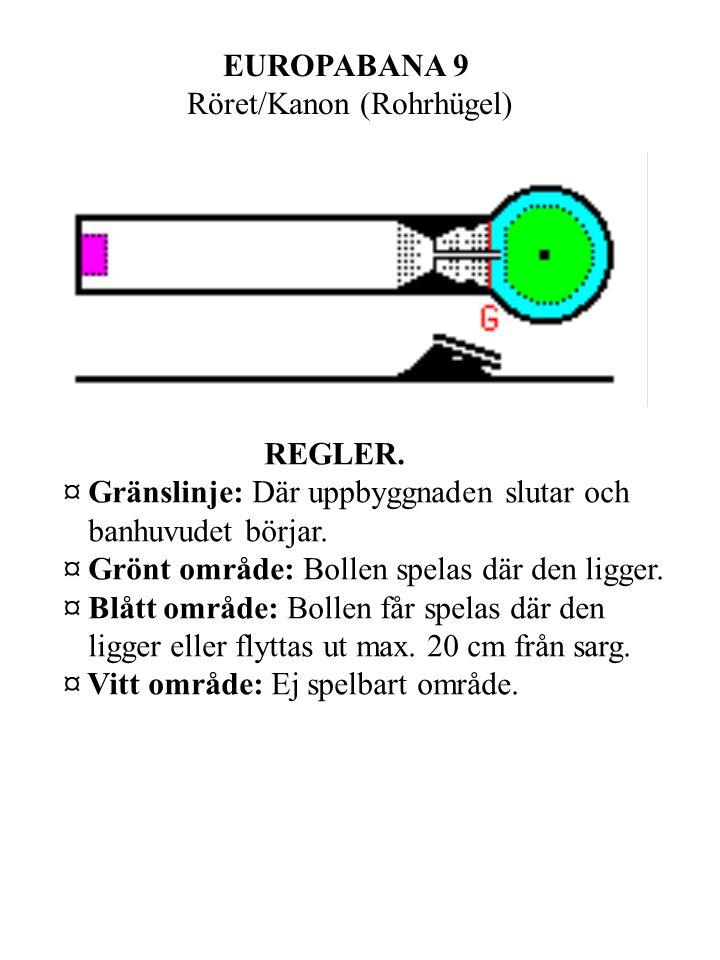EUROPABANA 9 Röret/Kanon (Rohrhügel) REGLER.