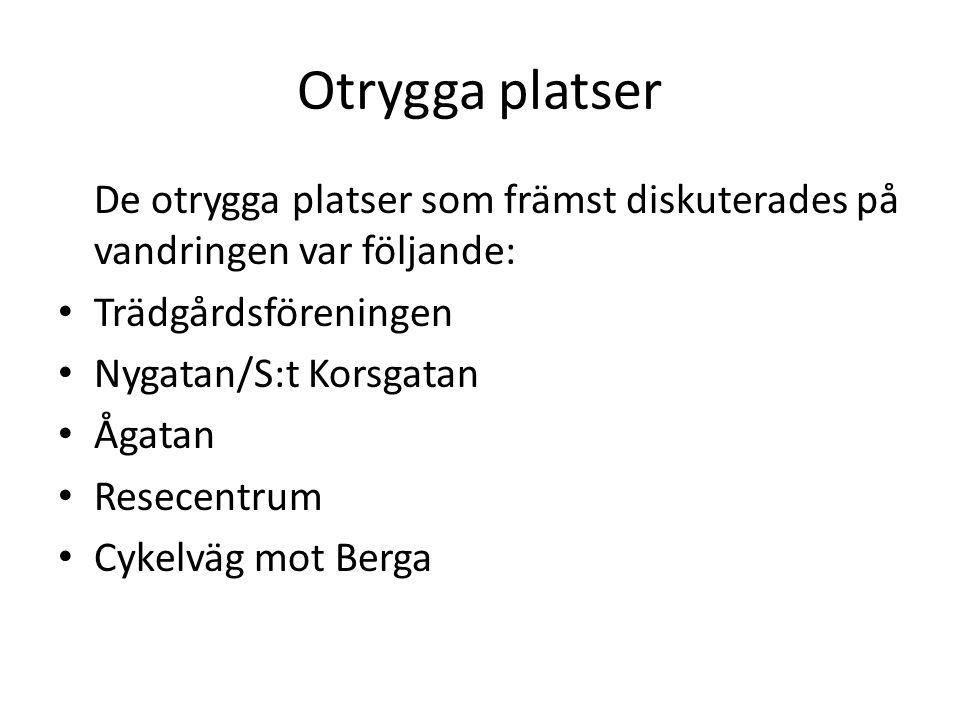 Slutligen • Unga är i stort sett trygg i staden och upplever att Linköping satsar på en god trygg stadsmiljö.