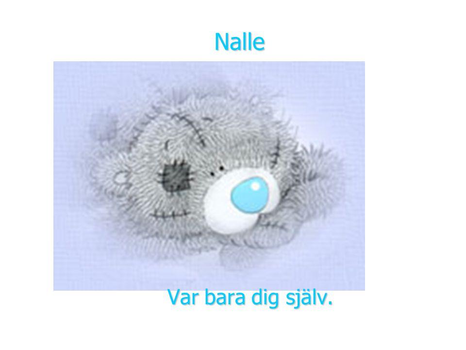 Låt Nalle vara ett exempel på kärlek och vänskap Jag önskar att vi alla kunde tro och känna som den här lilla nallebjörnen. Tack!
