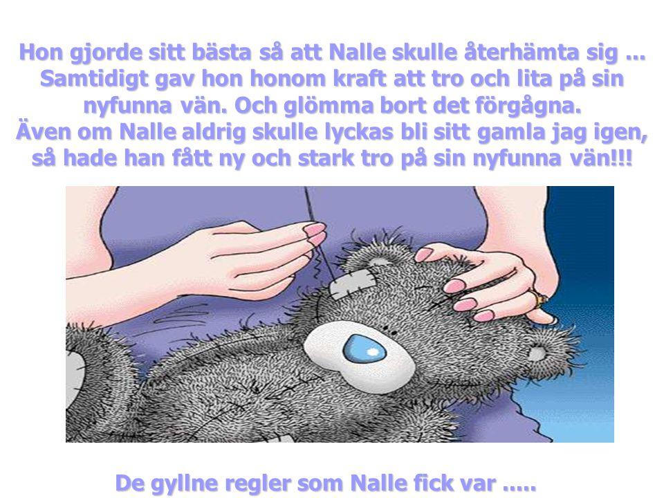 Men till slut kom någon... Lyfte upp honom i famnen och gjorde allt som var i hennes makt för att Nalle skulle bli som förut...