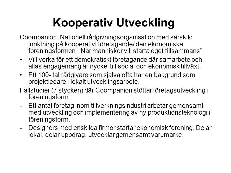Kooperativ Utveckling Coompanion.