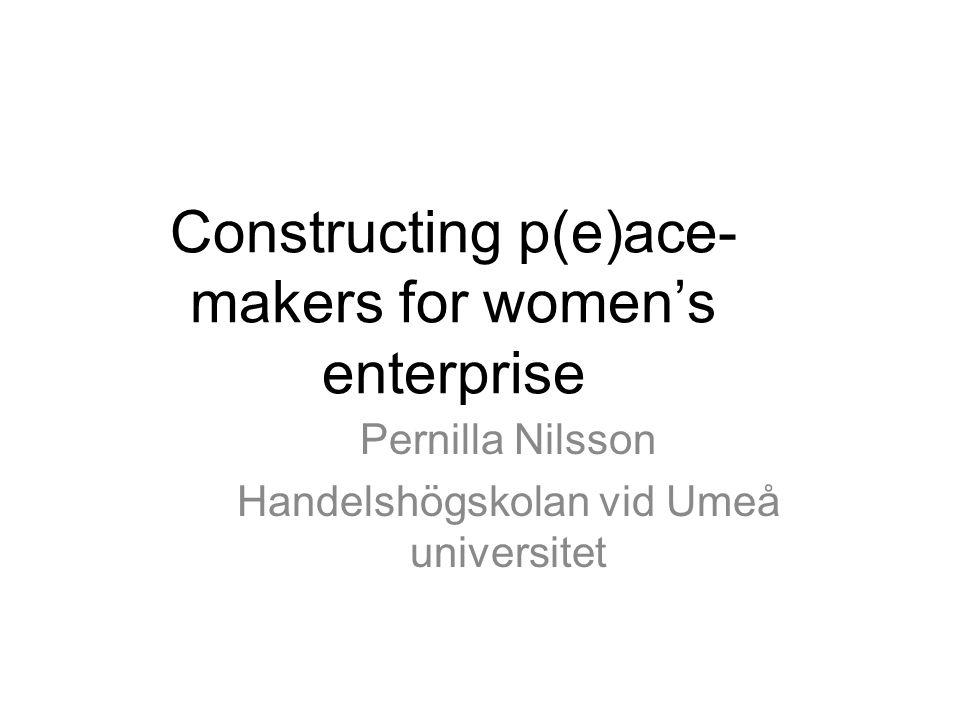 Invigningen av en ambassad för kvinnors företagande •Ambassaden som en… –Ace-maker •Ett 'serve-ess' för ökat företagande bland redan självgående kvinnor.