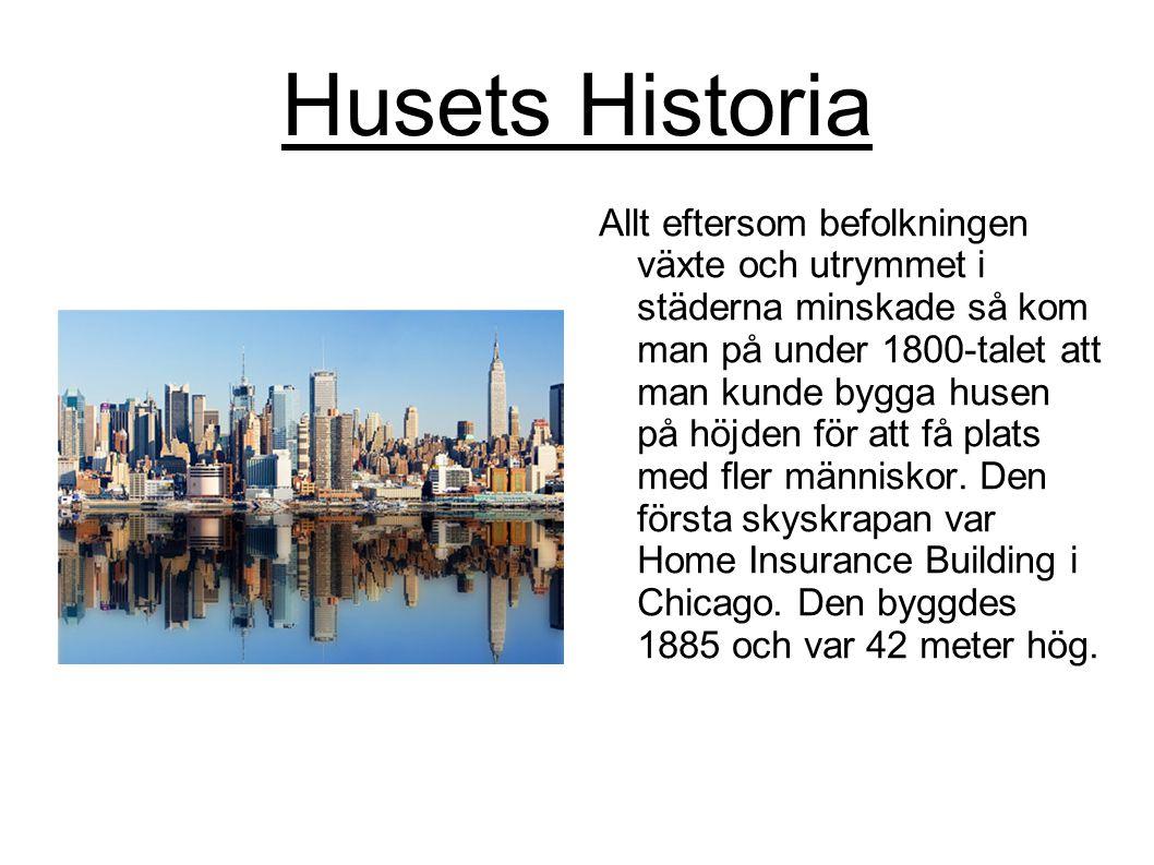 Husets Historia Allt eftersom befolkningen växte och utrymmet i städerna minskade så kom man på under 1800-talet att man kunde bygga husen på höjden f
