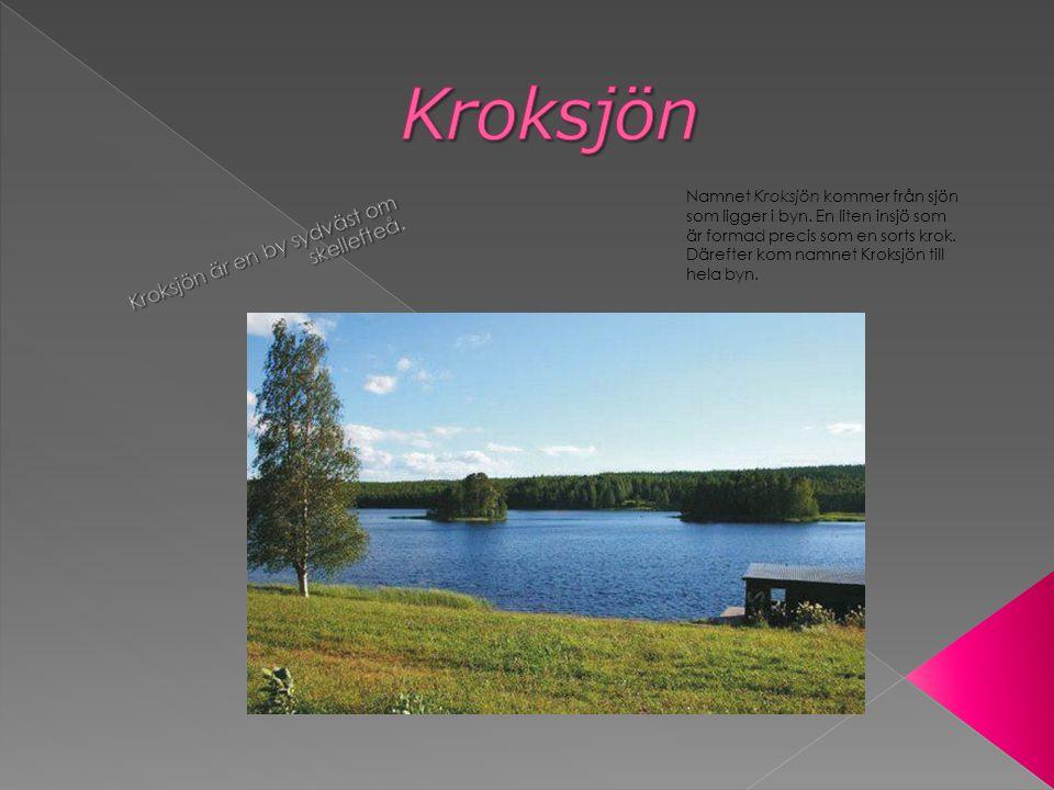 Namnet Kroksjön kommer från sjön som ligger i byn.