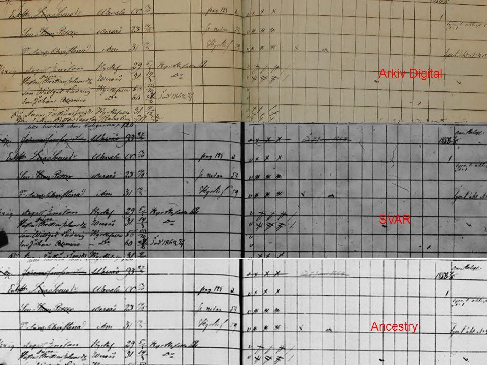 Arkiv Digital SVAR Ancestry