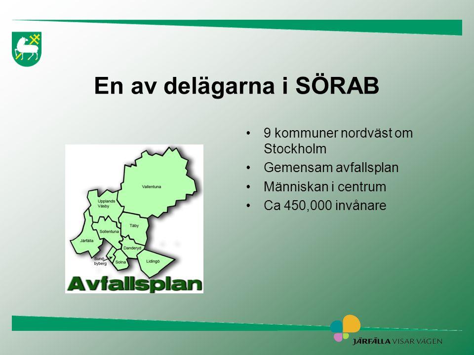 Hushåll med befintliga sopsuganläggningar •Idag är 20 % av hushållen i Järfälla anslutna till sopsugar, 5 496 st.