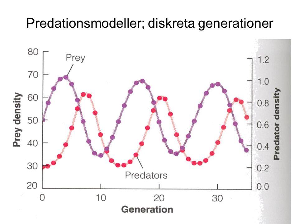 Predationsmodeller; diskreta generationer