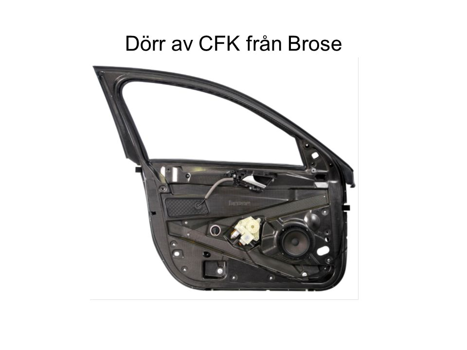 Dörr av CFK från Brose
