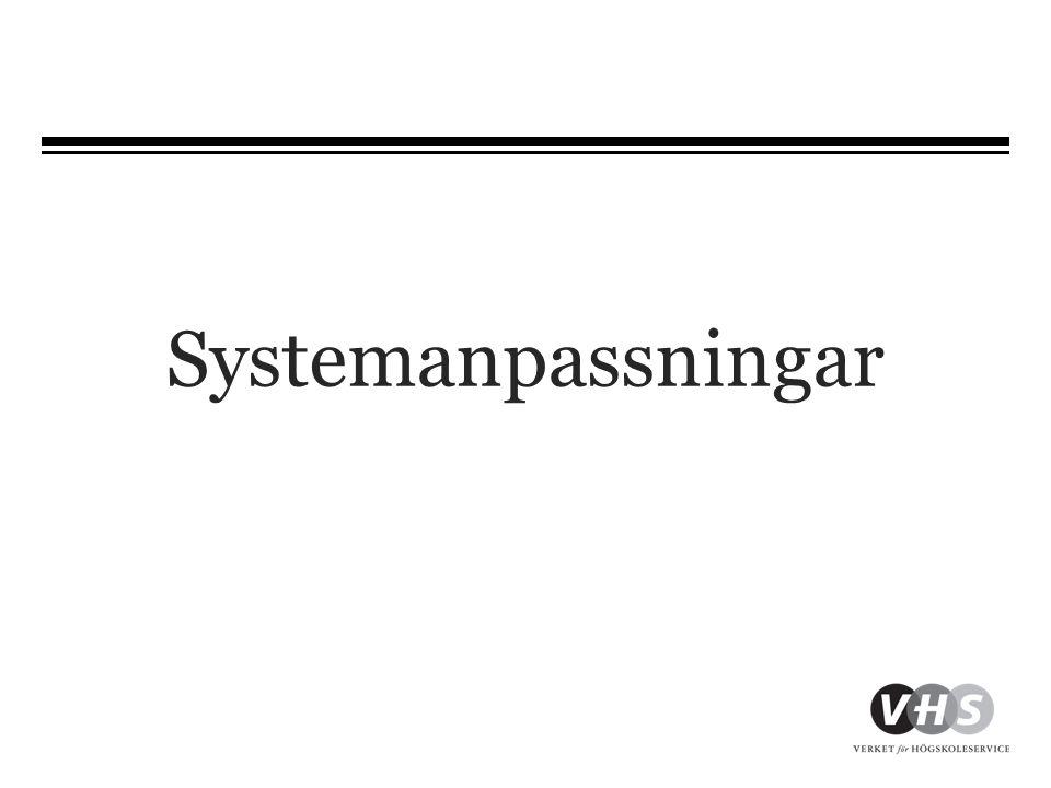 Systemanpassningar