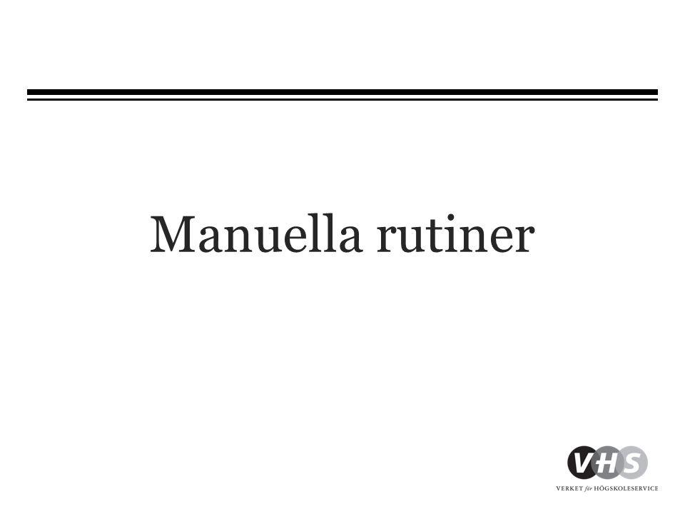Manuella rutiner