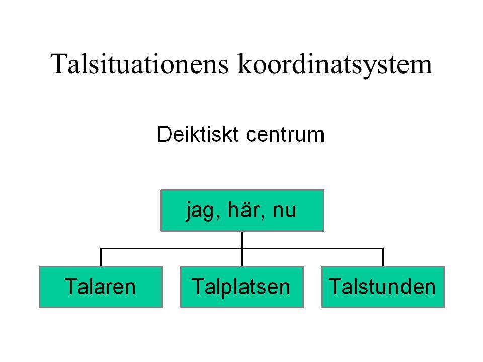 Talsituationens koordinatsystem