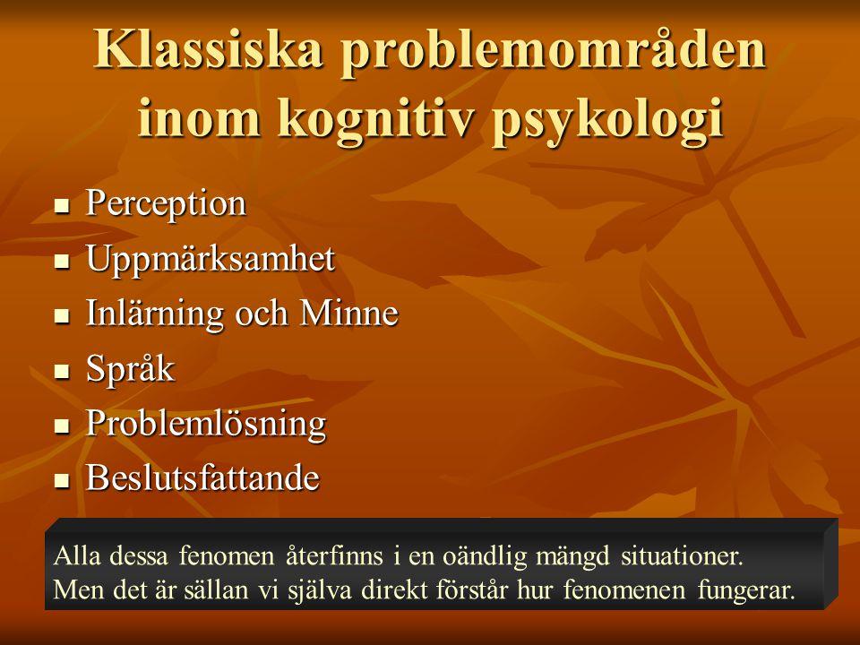 Forts.tidig kognitiv psykologi  Ebbinghaus  Fundamentala minnesexperiment.