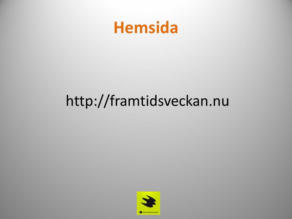 Hemsida http://framtidsveckan.nu