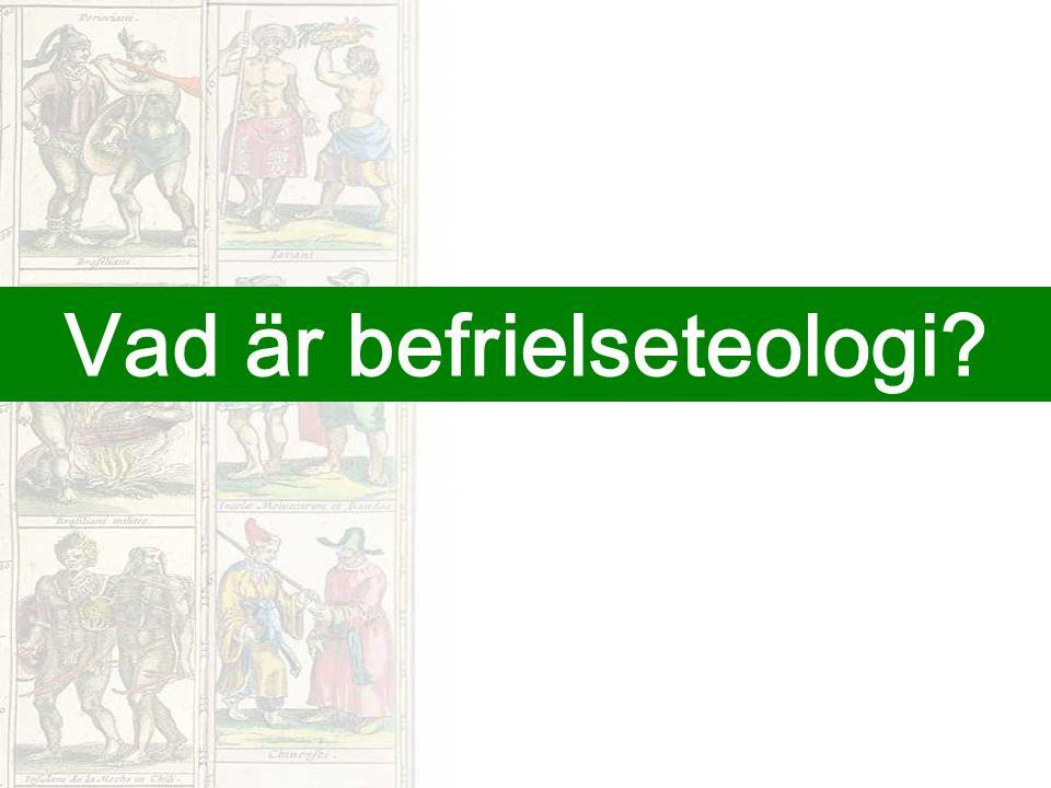 Vad är befrielseteologi?