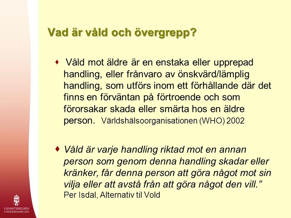Äldre kvinnor, Stockholms län 2012  För äldre kvinnor stora brister när det gäller kompetens och möjlighet att få rätt stöd.