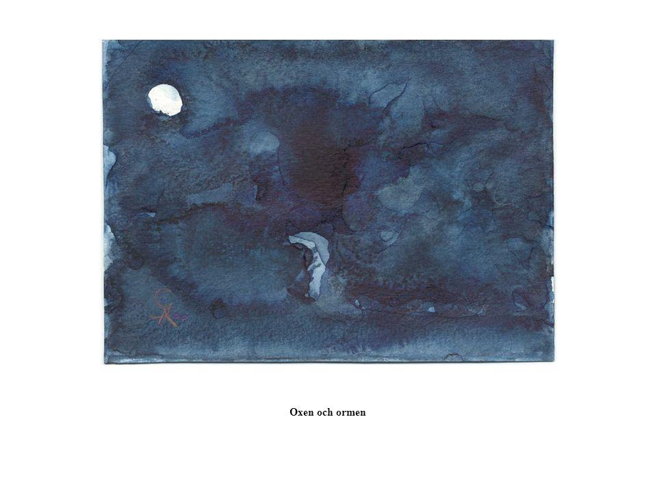 Minne Fågels öga följer gulblank rännas stilla flöde. Månen lyser öde hav och spår av svunnen resa.