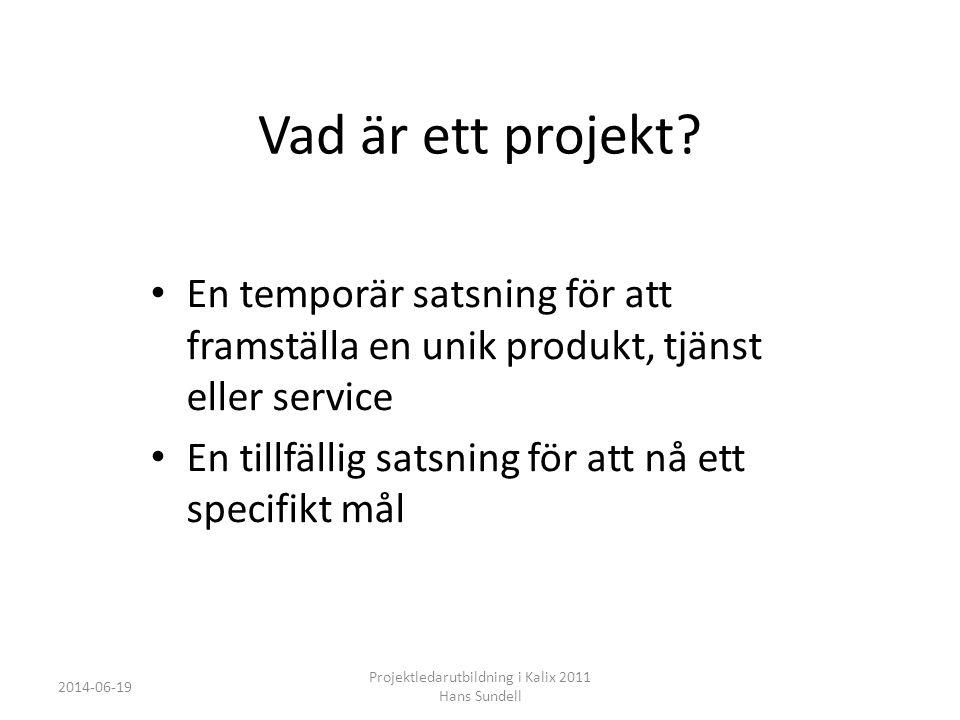 Vad är ett projekt.