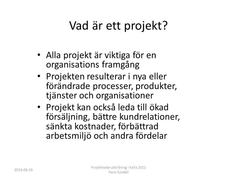 PROPS • PROPS delar in projekt i tre olika områden: • det styrande som representerar affären, • det ledande som i projektet är projektledningen, • samt det utförande, själva arbetsmodellen.