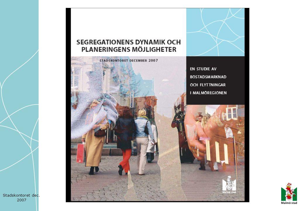 Utflyttningen från Södra Innerstaden 1996–2004, totalt 11 437personer Vart tar man vägen.