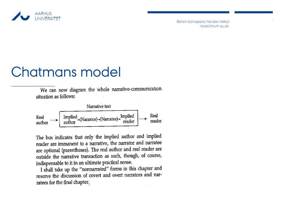 Stefan Kjerkgaard, Nordisk Institut norsk@hum..au.dk,, AARHUS UNIVERSITET Chatmans model