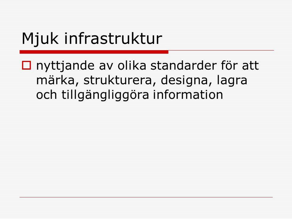 Mjuk infrastruktur  nyttjande av olika standarder för att märka, strukturera, designa, lagra och tillgängliggöra information