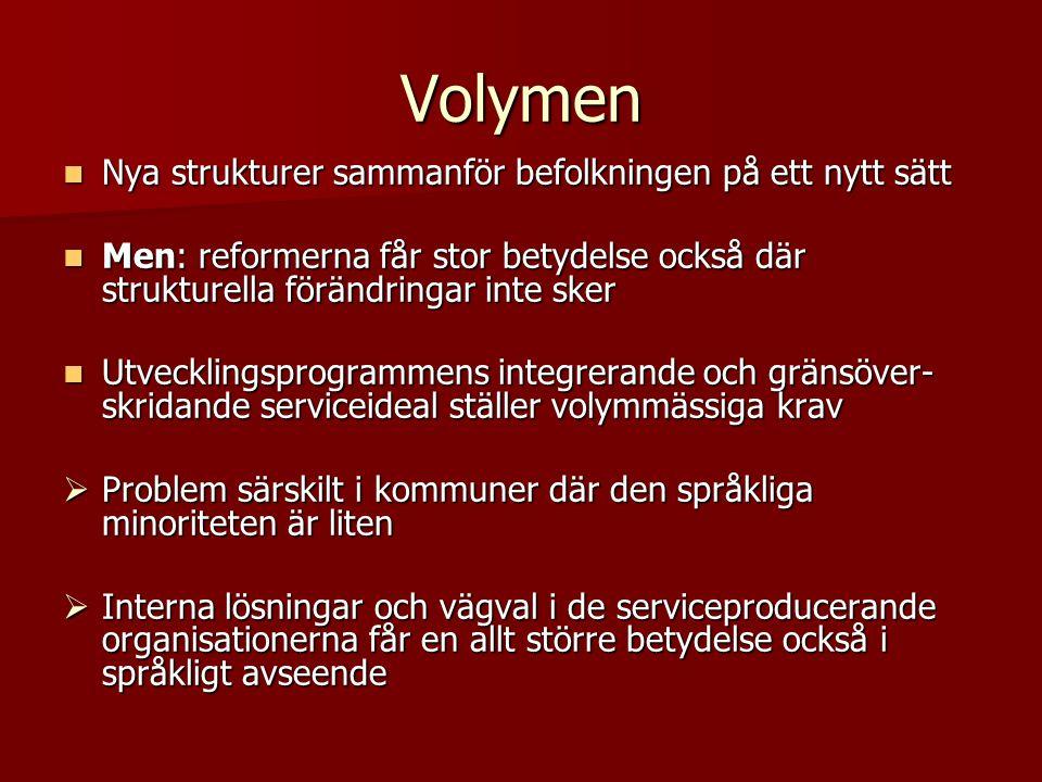 Regionernas Finland och språkliga konsekvenser Bettina C.