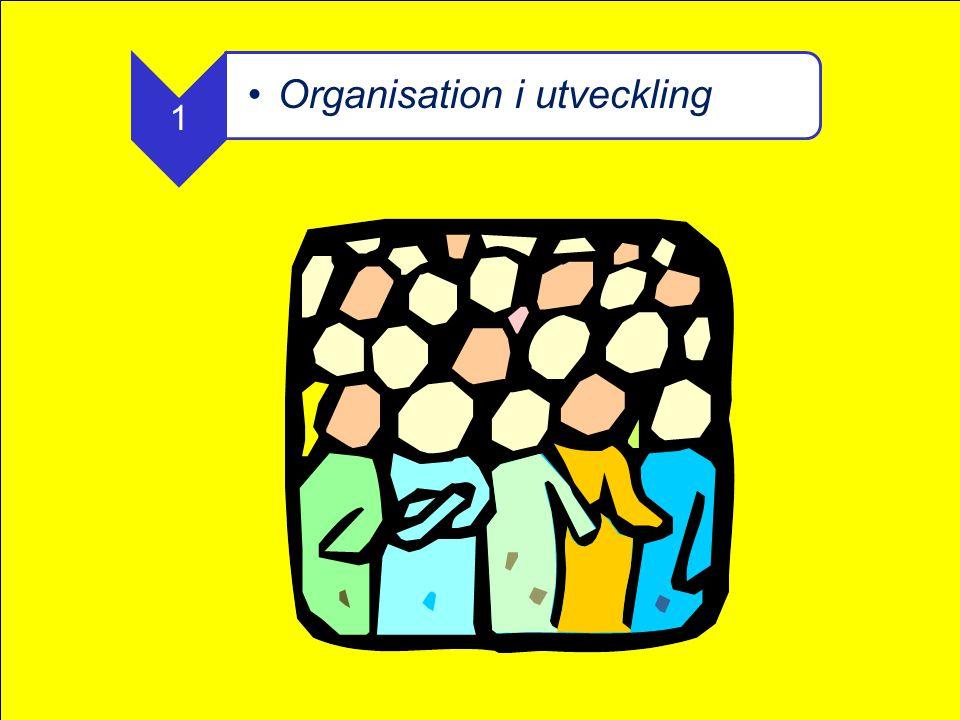 1 •Organisation i utveckling