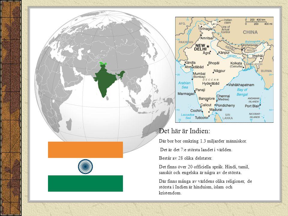 Det här är Indien: Där bor bor omkring 1.3 miljarder människor.