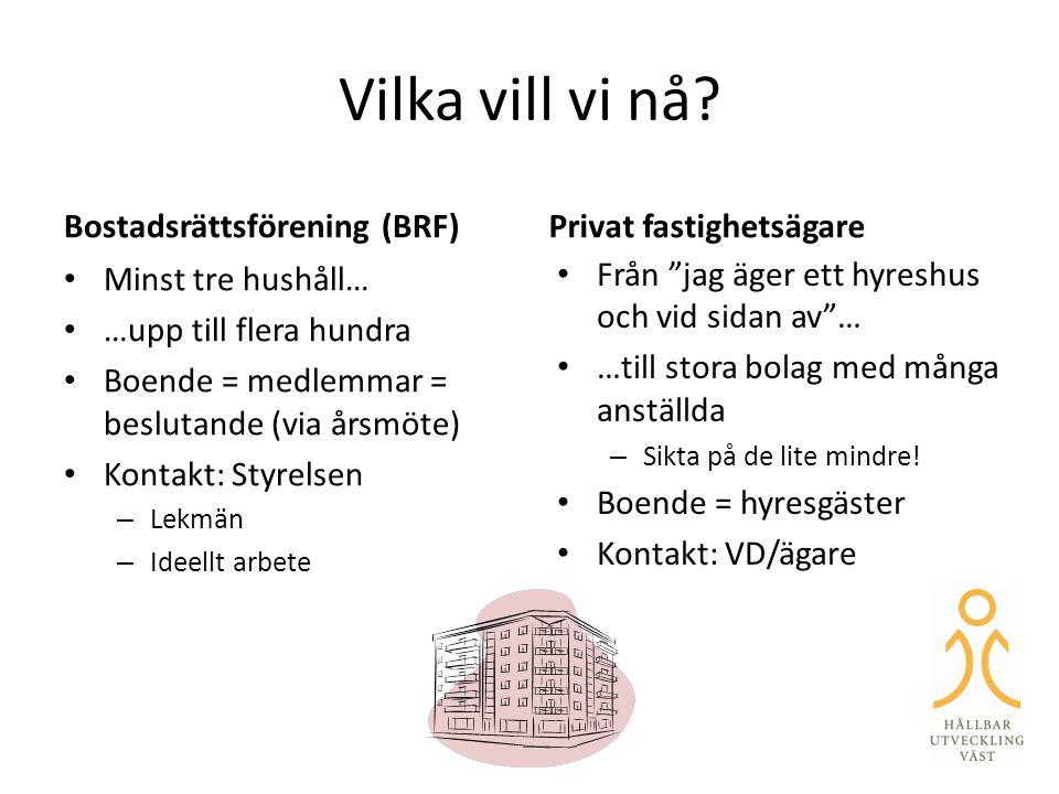 Hur hittar du BRF:er och mindre fastighetsägare i din kommun.