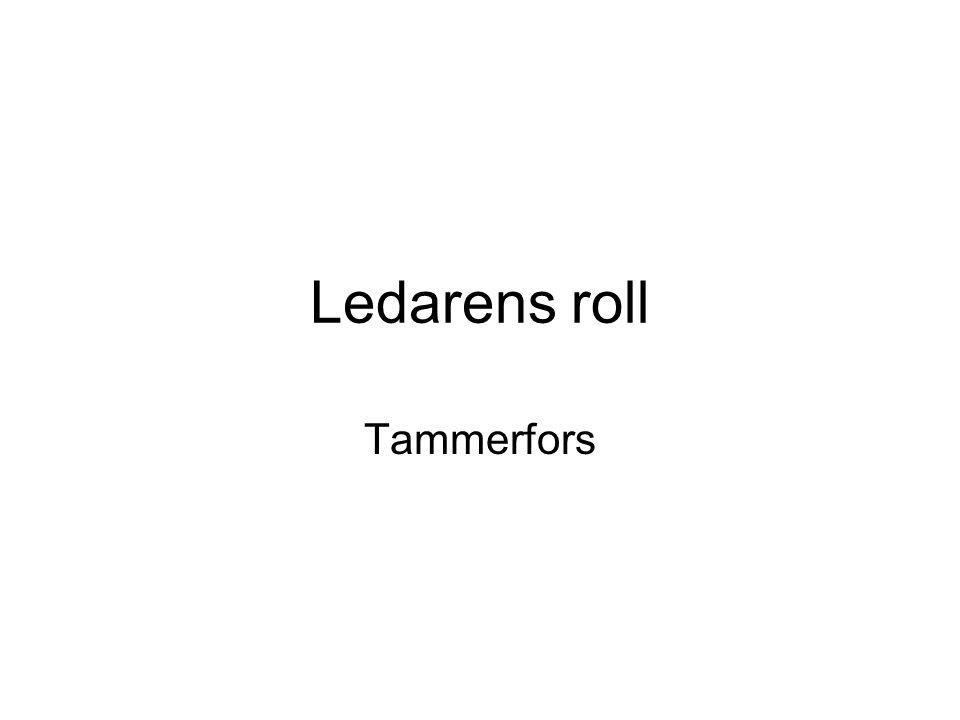 Ledarens roll Tammerfors