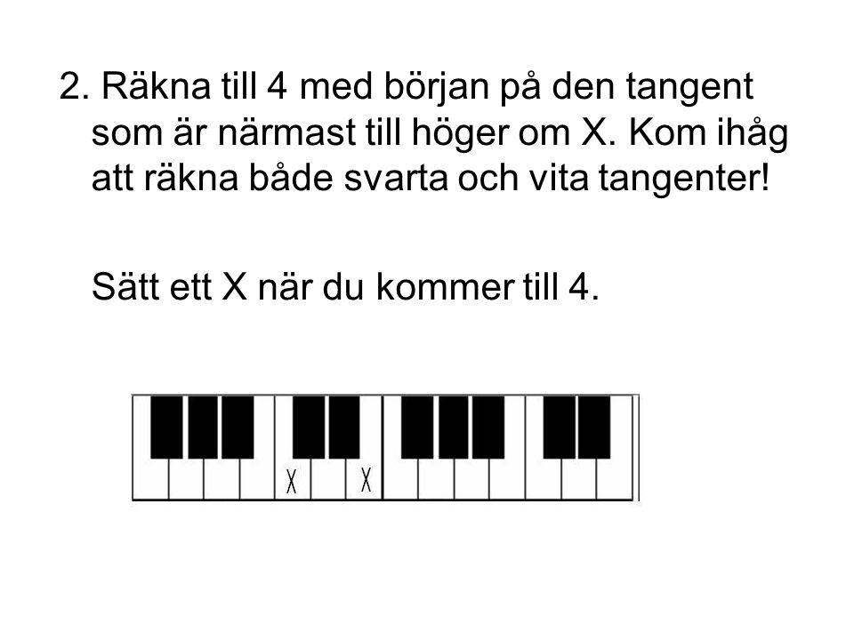 Om du ska räkna ut vilka toner som ingår i F#m så letar du upp den första tonen och gör sedan precis som tidigare (Moll = 3+4).