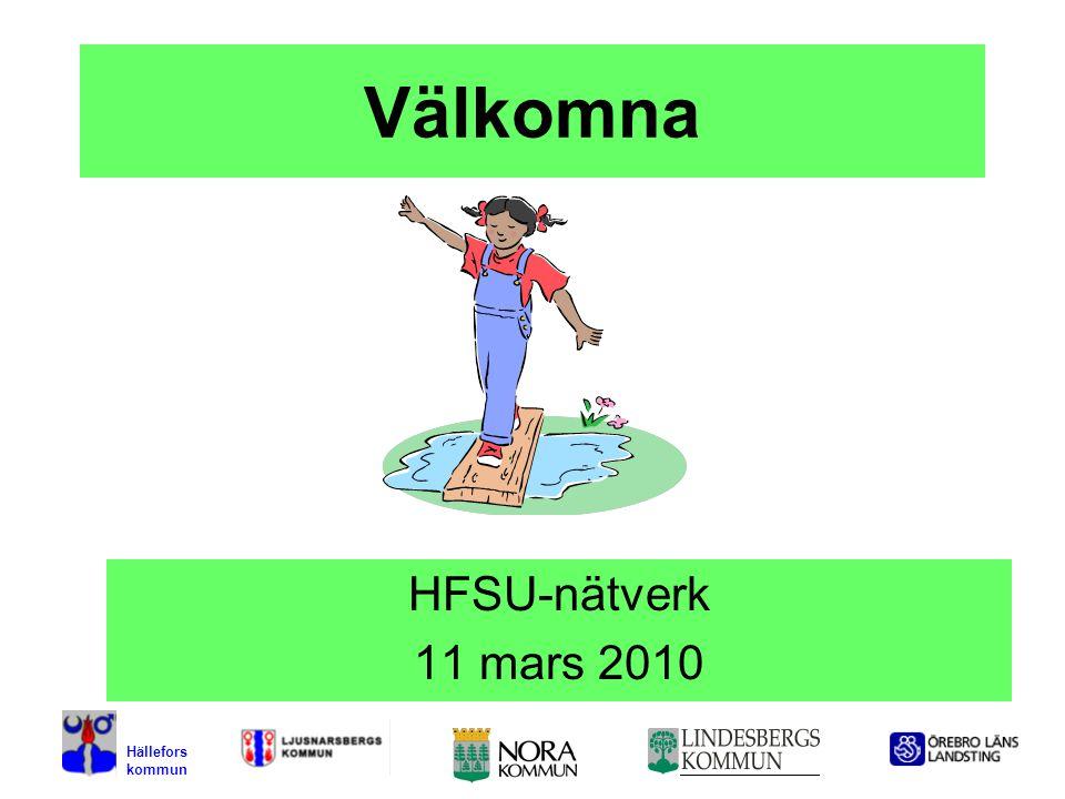 1 Välkomna HFSU-nätverk 11 mars 2010 Hällefors kommun