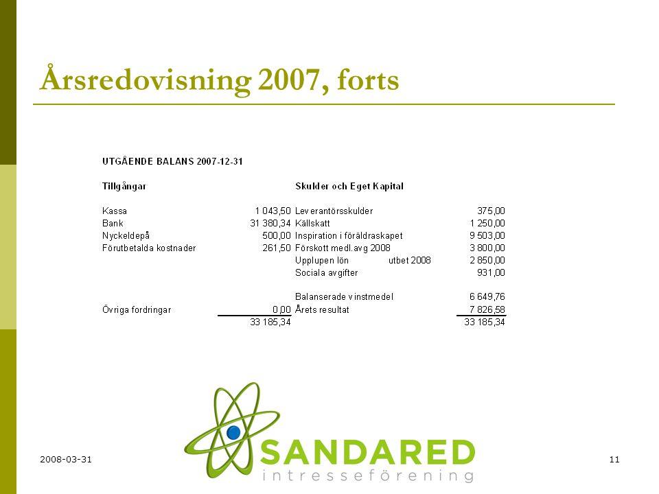 2008-03-3111 Årsredovisning 2007, forts