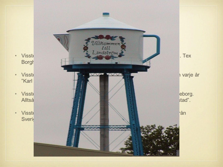 Visste du att? •Visste ni att det i USA finns flera olika städer som har svenska namn. Tex Borgholm och Kalmar. •Visste ni att i staden Lindstrom som