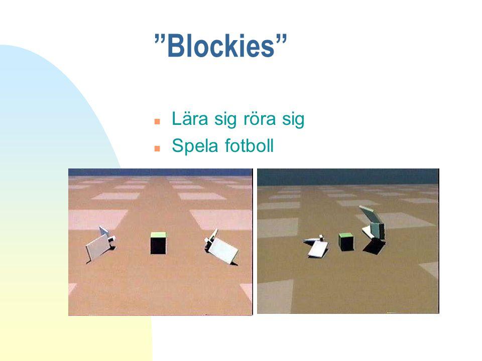 """""""Blockies"""" n Lära sig röra sig n Spela fotboll"""
