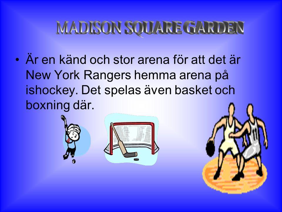 •Är en känd och stor arena för att det är New York Rangers hemma arena på ishockey.