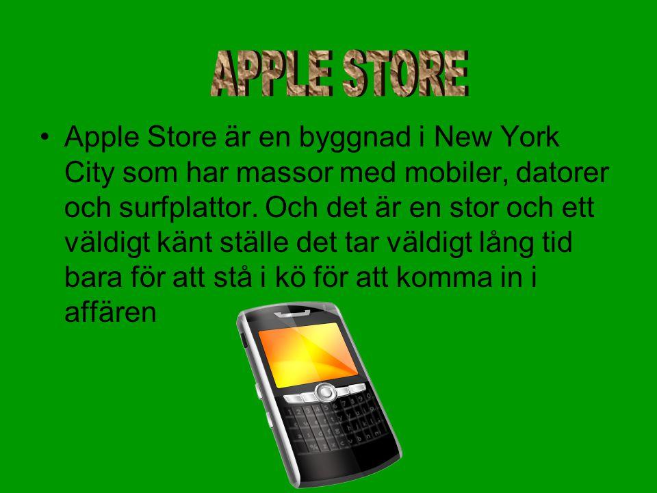 •Apple Store är en byggnad i New York City som har massor med mobiler, datorer och surfplattor.