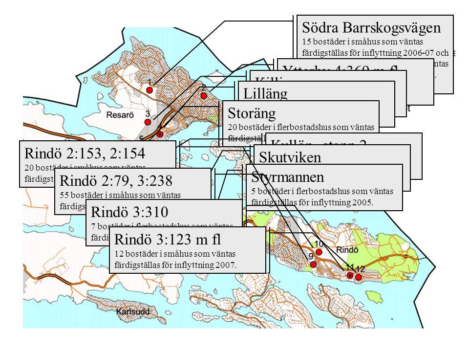 Södra Barrskogsvägen 15 bostäder i småhus som väntas färdigställas för inflyttning 2006-07 och 42 bostäder i flerbostadshus som väntas färdigställas f