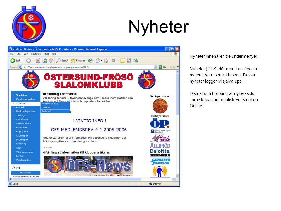 Medlemsarkivet (1/3) • Klicka på medlemsarkiv.Skriv in klubbens lösenord här.