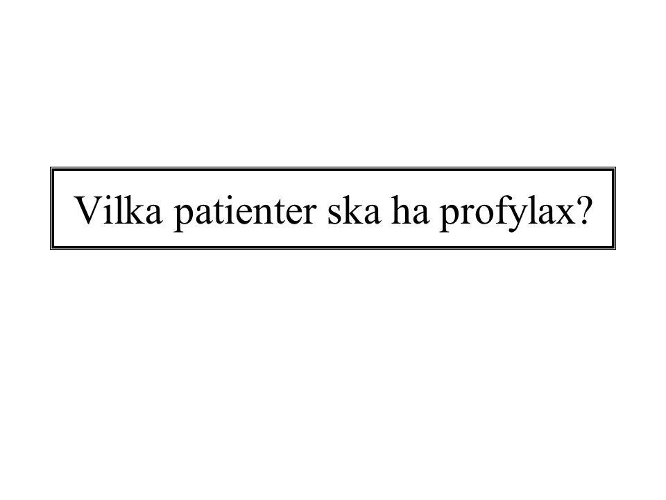 Vilka patienter ska ha profylax