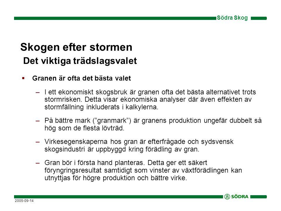 Södra Skog 2005-09-14  Ge tallen en chans.