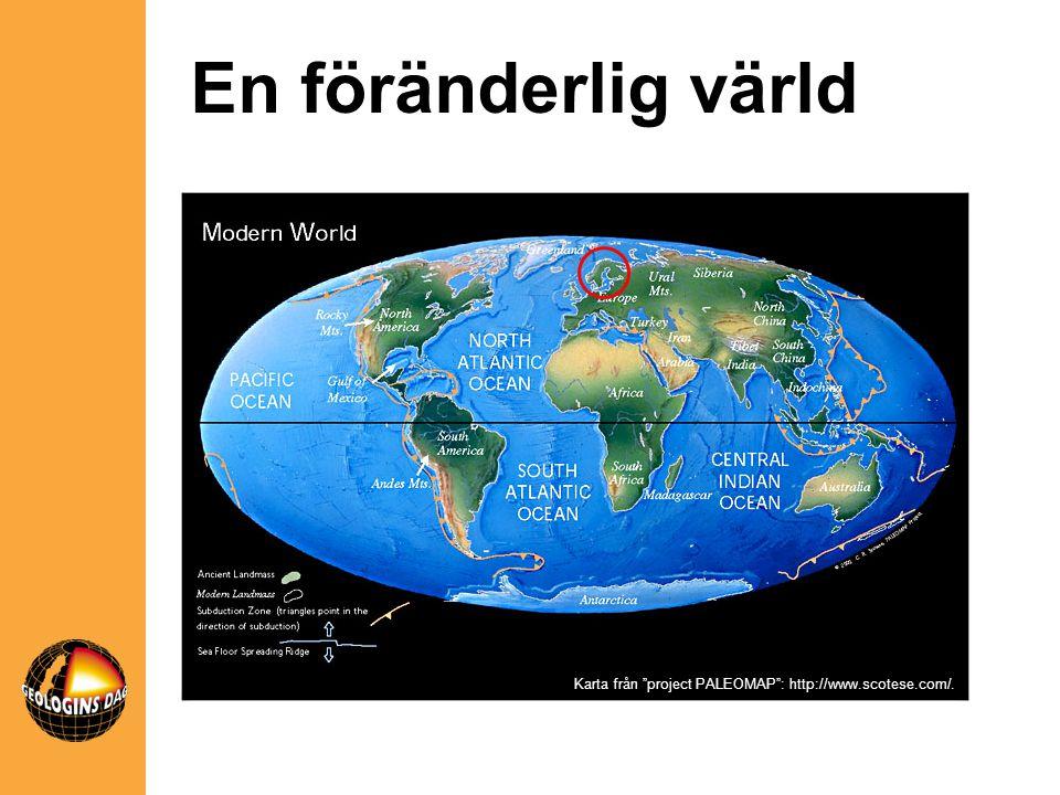 """Karta från """"project PALEOMAP"""": http://www.scotese.com/. En föränderlig värld"""