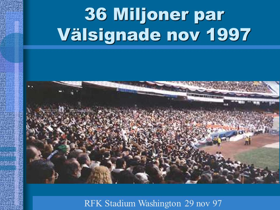 36 Miljoner par Välsignade nov 1997 RFK Stadium Washington 29 nov 97