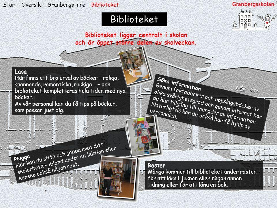 ÖversiktStart Biblioteket Söka information Genom faktaböcker och uppslagsböcker av olika svårighetsgrad och genom internet har du här tillgång till mä