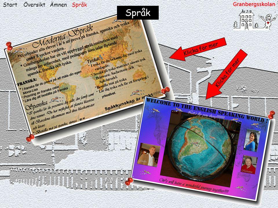 ÖversiktStart Språk ÄmnenSpråk Klicka för mer