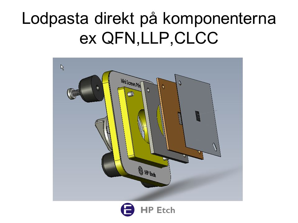 Lodpasta direkt på komponenterna ex QFN,LLP,CLCC